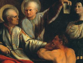 Galleria Borghese: Santi Cosma e Damiano con devoti